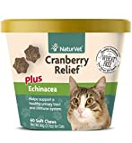 NaturVet - Cranberry Relief Plus Echinacea For Cats - Helps Support a Healthy Urinary Tract & Immune System - 60 Soft Chews