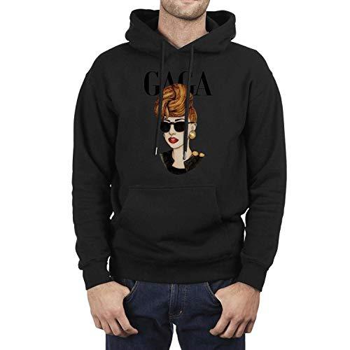 Iushfss Black Hoodie for Men Sweatshirt Winter Fleece Casual Pullover Hoodie]()