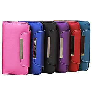 Frosted Rope Leather Case with Card Slot and Wallet for iPhone 5C(Assorted Colors) --- COLOR:Rose