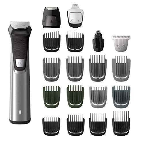 Philips Norelco Multigroom Pro Kit, with Exclusive Turbo Boost Feature, Washable and Maintenance Free, with Full-Size Metal Guard Trimmer, Bodygroom Foil Shaver, and Body Trimmer Comb, Precision Trimmer, with Hair Clipping Comb, Mini Foil Shaver, and Beard and Mustache Comb, Tube Nose, Ear and Eyebrow Trimmer ()