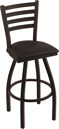 Holland Bar Stool Company 410 Jackie 30-Inch Bar Stool with Black Wrinkle Finish, Black Vinyl Seat and 360 Swivel