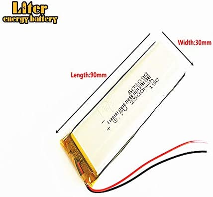 3.7V 250mAh 602025 Lithium Polymer Ion Rechargeable Battery Lithium Polymer Li-Po Battery for MP4 GPS MP3 Bluetooth Stereo DIY Gift
