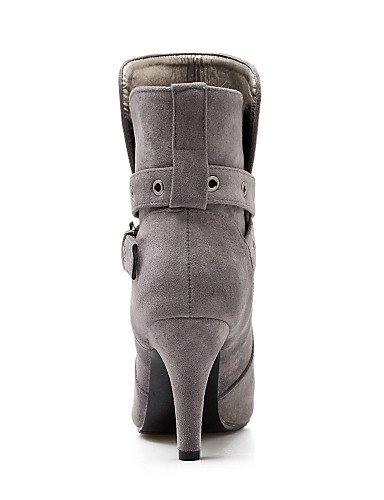 Vestido Eu41 Negro 5 Mujer Cn42 Uk7 Uk7 us9 Gris A 5 Gray Xzz Tacón Uk6 5 Botas 8 Botines De us8 10 Vellón Puntiagudos Black Eu39 Stiletto Moda 5 Cn40 Beige Zapatos La OfqwPfxR