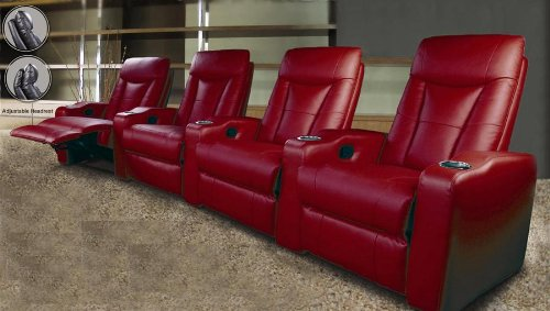 Pavillion Recliner 4 Person Home Theater Seating Buy Online In Uae Products In The Uae: home theater furniture amazon