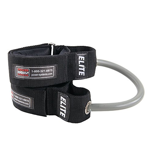 Power Systems Power Stepper, 2 Padded Ankle Cuffs with 10-Inch Resistance Tube, Elite Resistance Level, Gray ()