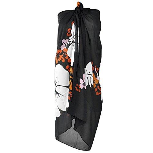 Yahee Damen Sarong Pareo Wickelrock Strandtuch Tuch Wickeltuch Strandkleid mit floralem Muster perfekt für Strandbesuch