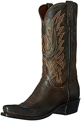 Lucchese Classics Men's Cole-ch BRN Md Goat Riding Boot, Chocolate Burnish, 8.5 D US