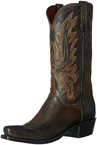 Lucchese Classics Men's Cole-ch BRN Md Goat Riding Boot, Chocolate Burnish, 11.5 D - Chocolate Lucchese Classics