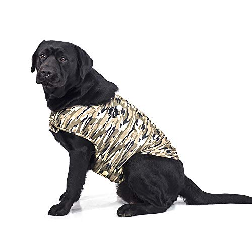 Dog Camouflage Vest - warmpet Dog Anxiety Relief Coat Comfort Keep Clam Wrap Vest Thunder Shirt for XS Small Medium Large XL Dogs,Navy Blue Gray Rose-Red Camouflage