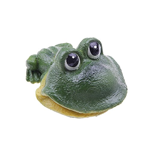 EmoursTM Cute Frog Air Stone Bubbler Live-Action Aerating Aquarium Ornament Aquatic Resin Decoration for Fish (Action Fish Aquarium)