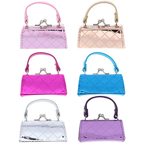 6 Lipstick Cases with Handles Mini Mahjong Coin Purse (Metallic Quilted Mix)