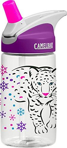 CamelBak Snow Leopard Eddy Kids Water Bottle, .4 L, Purple