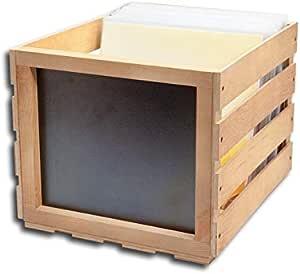 Caja de madera con pizarra brillante: Amazon.es: Instrumentos musicales