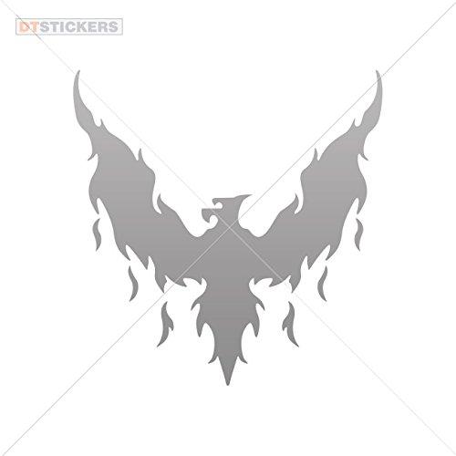 Vinyl Sticker Decal Eagles phoenix rizing Atv Car Garage bike (7 X 6,86 In. ) Gray 50%