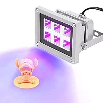 Mookis - Lámpara de secado con luz UV de resina con 6 W de efecto ...