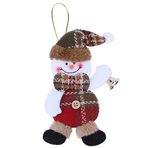Music Wind - 16cm Santa Claus Snowman Elk Christmas Pendant Ornaments With A Small Bell Tree Decorations - Wireless Bell Bell Bell Wind Doorbell Hang Star Bell Wind WeddingBell Bell Bell B ()