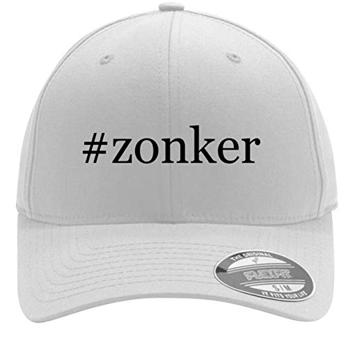 #Zonker - Adult Men's Hashtag Flexfit Baseball Hat Cap, White, Large/X-Large