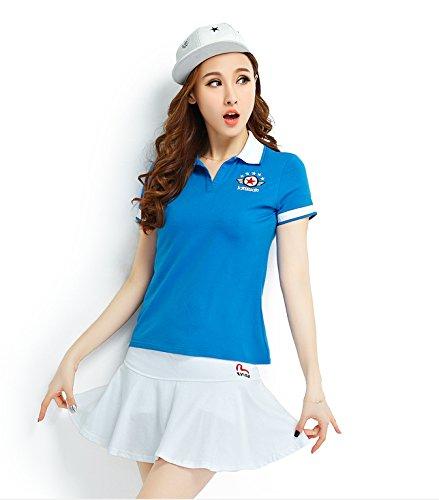 「ReiRei」レディーステニスウェア可愛い スポーツウェア上下 スーツ 運動着 Tシャツ 半袖 ミニスカート テニスウェア