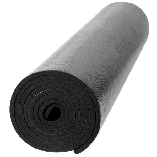 YogaAccessories Premium Weight Yoga Mat - Black