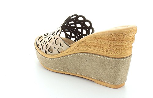 Azura Womens Polidor Slides Wedge Durable Sandals Soft Gold yU7XQHv7