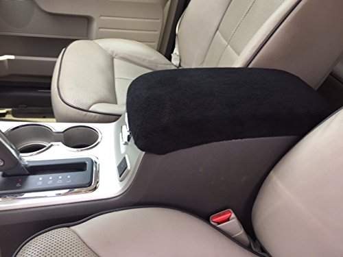 Lincoln MKX 2007,2008,2009,2010 SUV Auto Center Console Armrest Cover Protects from Dirt and Damage Renews old damaged console, soft washable fleece fabric, Made in the USA. Black ()
