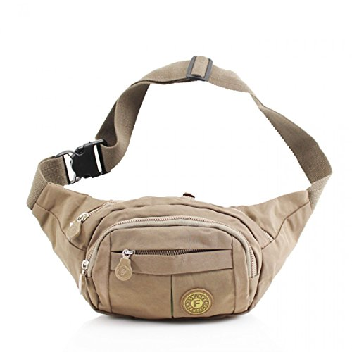 Money Unisex Belt Pouch Khaki Pack Festival Bag Waist Ticket Passport Travel Bum Wallet Fanny tArRwA