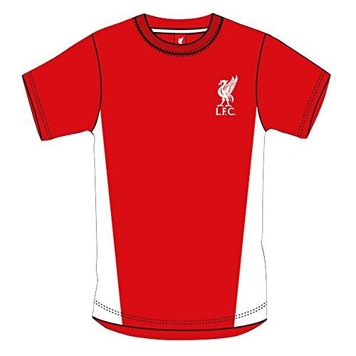 ヒロイン褒賞ペイントリバプール フットボールクラブ Liverpool FC メンズ オフィシャル クレストデザイン 半袖 サッカーTシャツ トップス カットソー 男性用