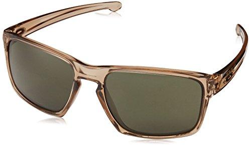 Oakley Men's Sliver OO9262-02 Rectangular Sunglasses, Sepia, 57 - Sepia Matte