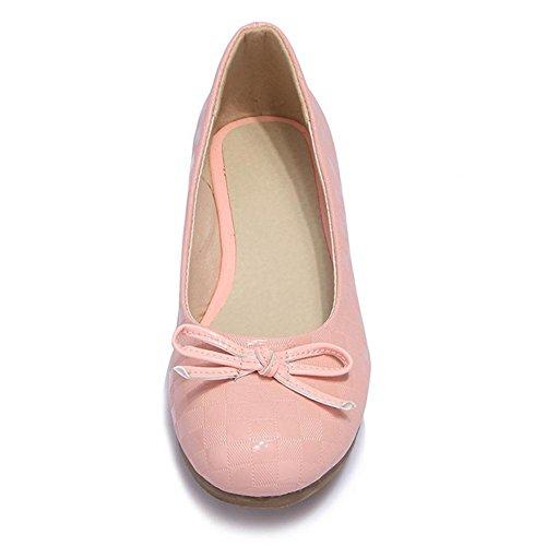 nudo redondo Women mariposa inferiores pink beige HFour zapatos planos 40 Seasons Blanco XIAOGANG H rosado dulce cabeza cuadrada 8zqvtv