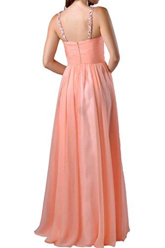 Sweetheart Vestito Avril Del Semplice Lungo Impero Spalline Abito Partito Arancione CwO7qt
