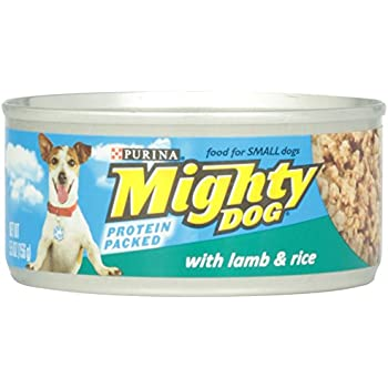 Purina Mighty Dog Wet Dog Food with Lamb and Rice Can, 5.5