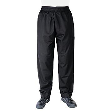 Whites Chefs Apparel a582-xs Vegas chef pantaloni, nero Nisbets 13504