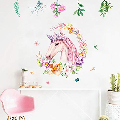 Non Toxic Unicorn Wall Decal Sticker Vinyl Girls Bedroom Wall Décor  Removable Baby Room Wall Mural