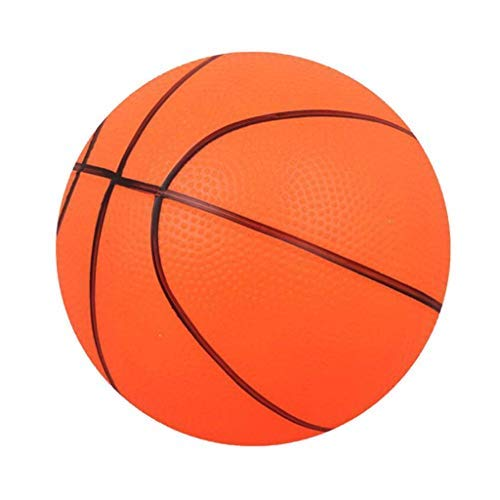 Mini Basketball Soft Basketball Bouncy Basketball Indoor/Outdoor Sports Ball Kids Toy Gift - Orange