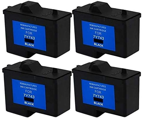 SuppliesMAX Compatible Replacement for Dell A940//A960 Black Inkjet Series 2 310-4631/_4PK 4//PK
