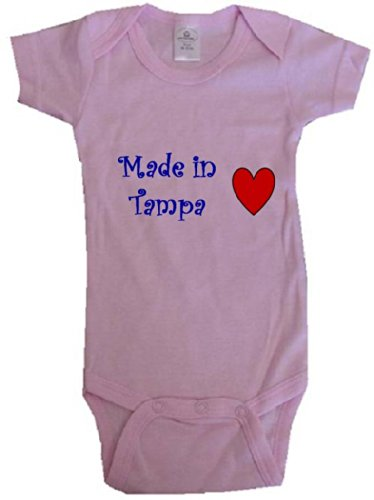 - MADE IN TAMPA - TAMPA BABY - City Series - Pink Baby One Piece Bodysuit - size Newborn (0-6M)