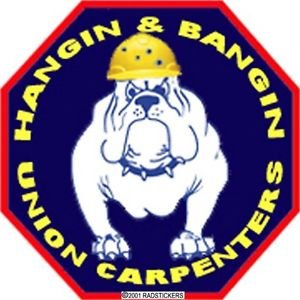 3 Pack - Decal, Hard Hat Decal, Carpenter, Union - Sticker Graphic - Construction Toolbox, Hardhat, Lunchbox, Helmet, Mechanic & More