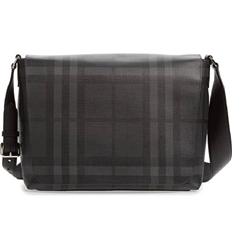 - Burberry Gray Check Messenger Bag