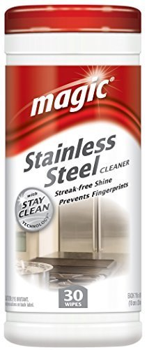30 Ct Stainless Steel Cleaning Wipes by Weiman by Magic American Corp/Homax (Image #1)