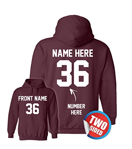 Custom Jersey Hoodies - Hooded Sweatshirts - Personalized Hoodys for Football