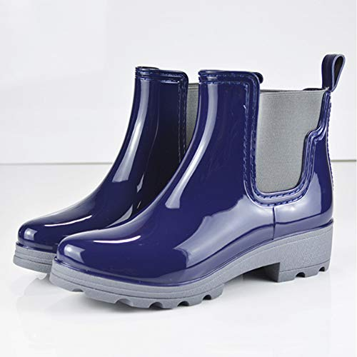 On Ankle Slip Short C Waterproof Women's fereshte Chelsea Boots Rain Booties Blue 5qXwYEAx