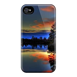 Hot Snap-on Paulk Lake Sunset Hard Cover Case/ Protective Case For Iphone 4/4s