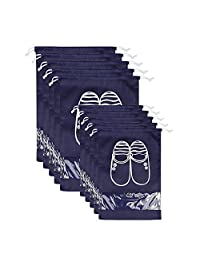 LEADSTAR Pack of 10pcs Non-woven Shoe Bags Dust,Drawstring Shoe Bags Dust-proof Breathable Organizer