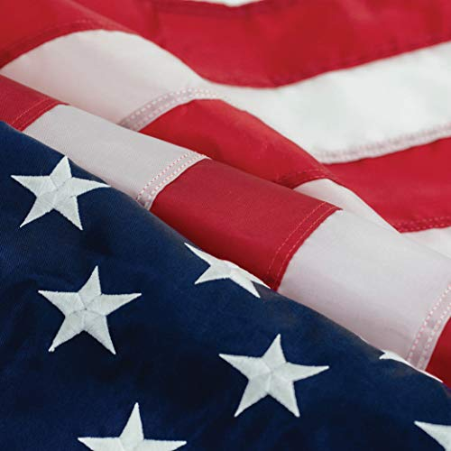 Hamilton & Adams 1776 American Flag 3x5: 100% Made USA - Toughest and Longest Lasting Embroidered Stars and Sewn Stripes American Flag – This American Flag Meets US Flag Code.