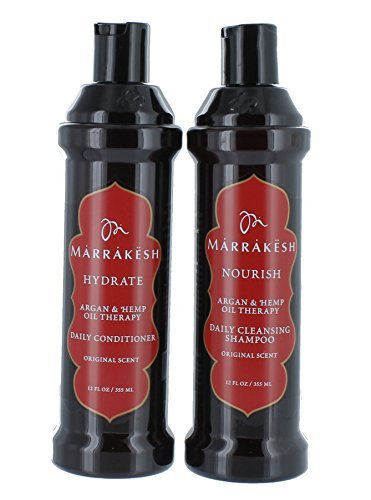 MARRAKESH Original Shampoo + Conditioner Combo Set With Hemp and Argan Oils for Unisex, 12 oz by MARRAKESH
