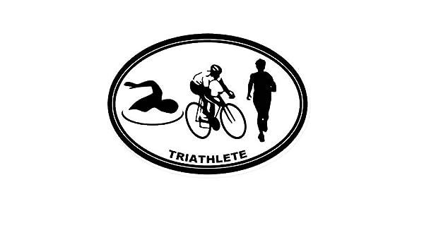 hllhpc Pegatina de triatlón Nombre del Logotipo Calcomanía de ...