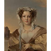 The Cotton Canvas of oil painting 'Thomas Sully,Mrs. James Gore King (Sarah Rogers Gracie King), Wife of The Gold Beater,1831' ,size: 16x19 inch / 41x49 cm ,this High Definition Art Decorative Canvas Prints is fit for Wall art gallery art and Home artwork and Gifts