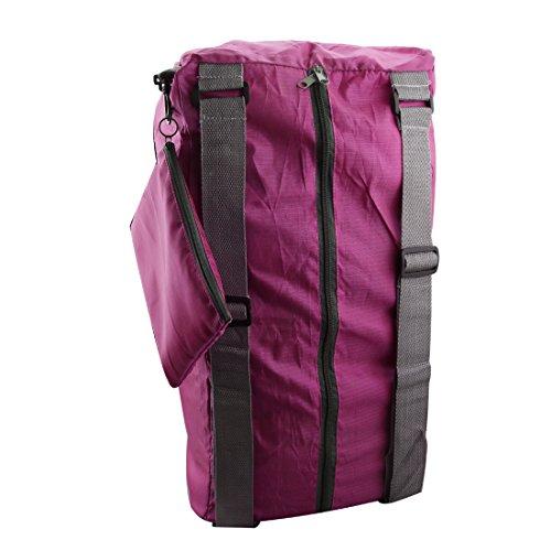 A-szcxtop tragbar faltbar Duffel Tasche Ultra große Kapazität für Doppel Schultern Reisen, Camping rot