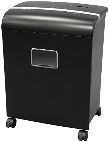 Sentinel FM121P 12-Sheet High Security Micro Cut Paper Credit Card Shredder with Waste Bin Shredder
