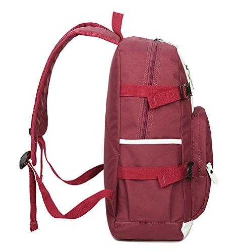 SQLP Schulrucksack Jungen Teenager Jugendlichen Jungs Casual Canvas Rucksack Schultaschen Blau Pink